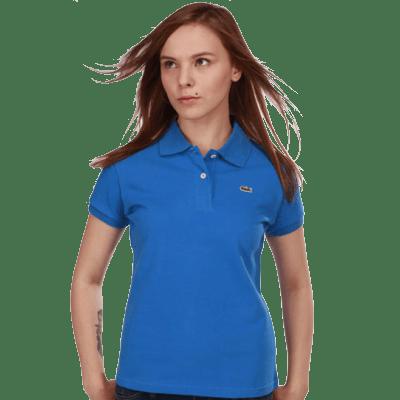 Женское поло Lacoste синее